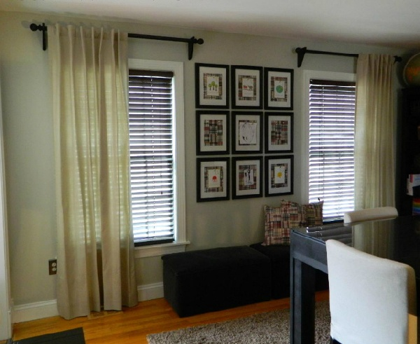 curtain drapery rods for bay window